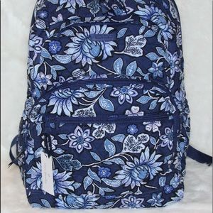 Vera Bradley Essential Large Backpack BLUE TROPICS